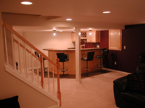 michigan basement finishing pictures down home