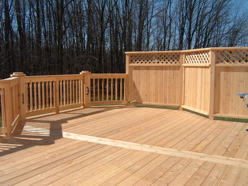 Michigan wood deck pictures down home construction for What is the best wood for decking